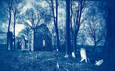 Church Ruin, Kabletown, WV (Scanned Cyanotype)