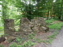 Remains of an identified stone structure.