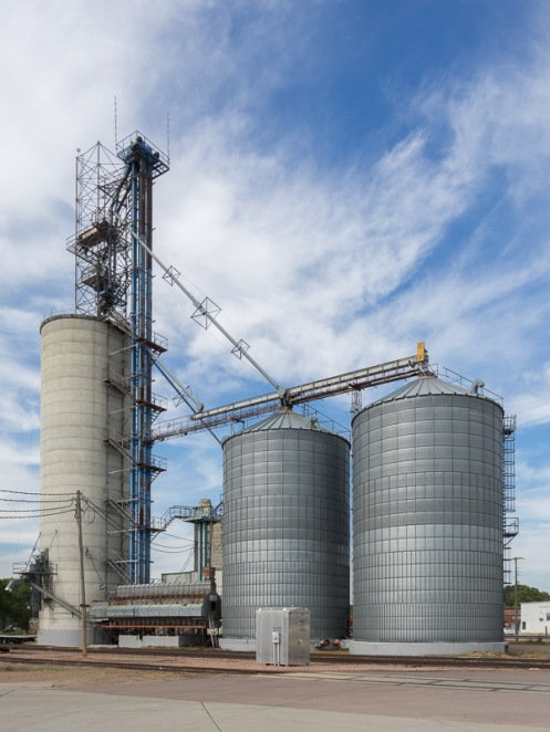 Grain storage facility in Humboldt, South Dakota