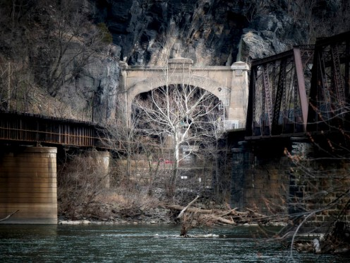 """Harpers Ferry Tunnel"" © 2017 Sterling Smith"