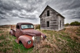 """Abandoned Farmhouse and Truck (HDR)"""