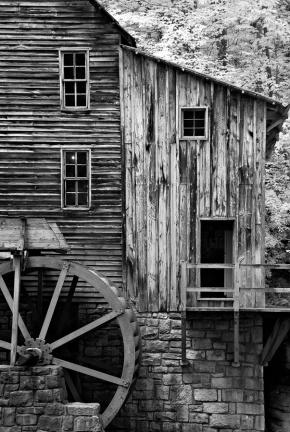 """Glade Creek Grist Mill"" (Digital Infrared)"