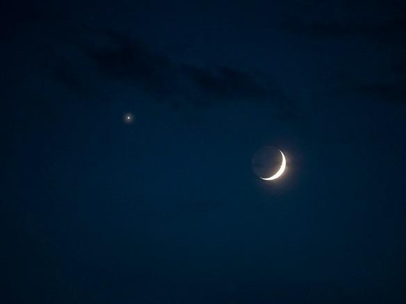 Venus – Moon Conjunction, July 15, 2018   Light, Shadow